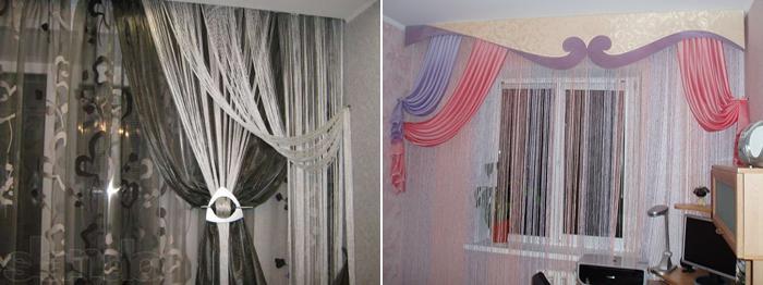 фото нити шторы