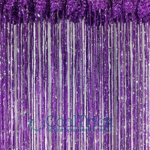 Дождь №212 Тёмно Фиолетовый / Серебро
