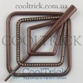 Заколка для штор нитей Квадрат Элит №14 Шоколадный